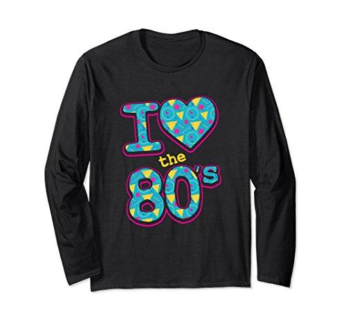 Unisex I Love The 80's Halloween Costume Long Sleeve T-Shirt XL: (80's Era Costumes)