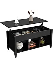 Yaheetech Lift Top Coffee Table with Hidden Storage Compartment & Shelf for Living Room