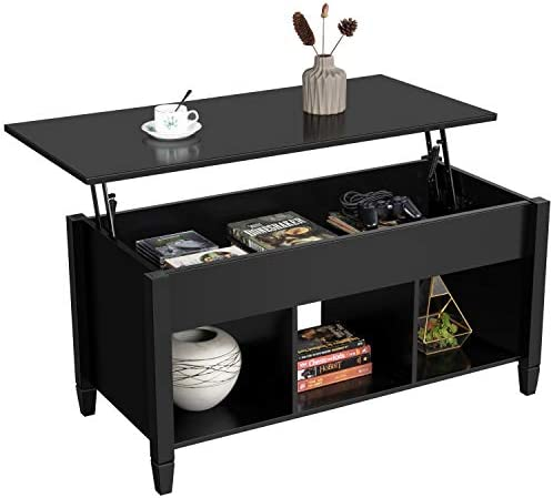 picture of Yaheetech Lift Top Coffee Table - Hidden Compartment and Storage
