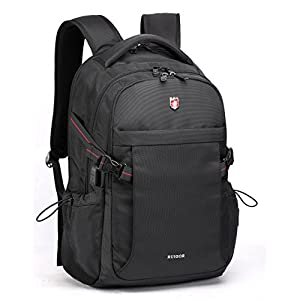 "Swiss Ruigor 6424 Water Resistant Backpack Fit For 15.6"" Laptop and Notebook With USB Port - Black"