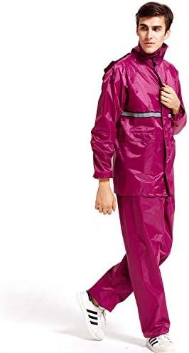 WARMQ レインコート上下セット レインスーツ 通湿性 レインウェア 着脱式合羽 二重構造帽子 雨具 メッシュ付き 耐久性 快適 自転車 バイク 通学 通勤に対応 アウトドア 男女兼用