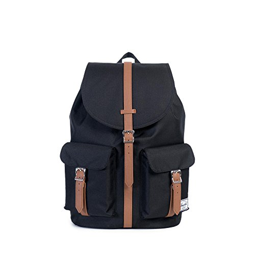 Herschel Supply Co. Dawson Backpack, Black/Tan Synthetic Leather,One Size