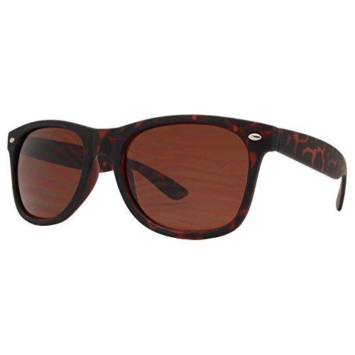 Wayfarer Sunglasses for Men Women tortoise Mirror Retro Vintage Black Lens Police Pilot Style New Black Shades - Police Sunglasses Wayfarer