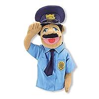 """Melissa & Doug, oficial de policía Títere, barra de madera desmontable para gestos animados, ideal para niños zurdos o diestros, 15 """"Alt. X 5"""" An. X 6.5 """"L"""
