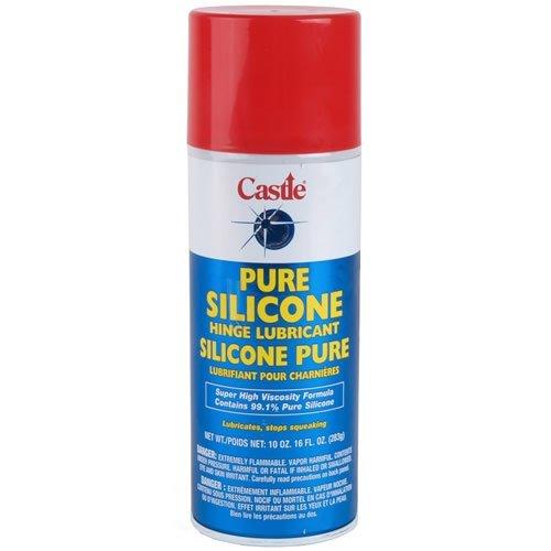 (Castle Pure Silicone Hinge Lubricant, Aerosol 10 oz)
