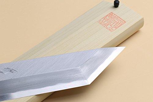 Yoshihiro Shiroko High Carbon Steel Kasumi Edosaki Japanese Eel Fillet Chef Knife 7''(180mm) by Yoshihiro (Image #2)