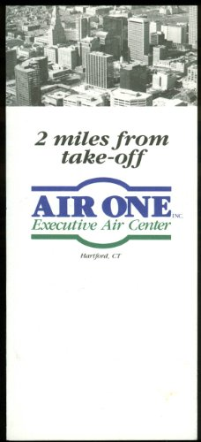 Air One Airlines Executive Air Center airline folder Hartford CT 1970s