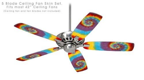 - Tie Dye Swirl 108 - Ceiling Fan Skin Kit fits most 42 inch fans (FAN and BLADES NOT INCLUDED)