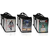 DVD and Xbox/Playstation Portable Storage Bags 3 Pack (Each Bag Holds 38-40)