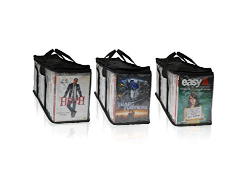 Electronics Tower Wall Entertainment Center (DVD and Xbox/Playstation Portable Storage Bags 3 Pack (Each Bag Holds 38-40))
