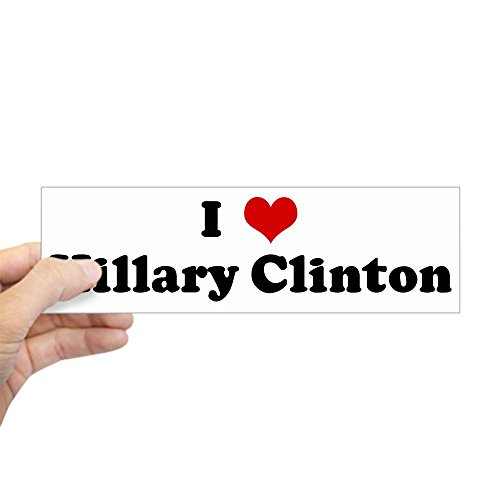 Hillary Clinton Bumper Sticker (CafePress I Love Hillary Clinton Bumper Sticker 10