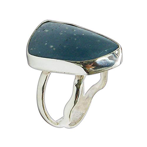 - Leland Blue Stone and Sterling Silver Ring, Hand Crafted One of a kind, Size 7 r7lbsg3020