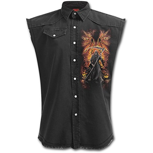 Spiral Flaming Death Worker Maglietta camicia GIACCA gilet - Unisex