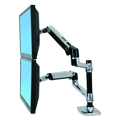Ergotron LX Dual Stacking Arm 45-248-026 (Stand Monitor Stackable Lcd)