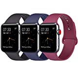 ATUP Compatible Apple Watch Band 38mm 40mm 42mm 44mm Women Men, Soft Silicone Band Compatible iWatch Series 4, Series 3,...