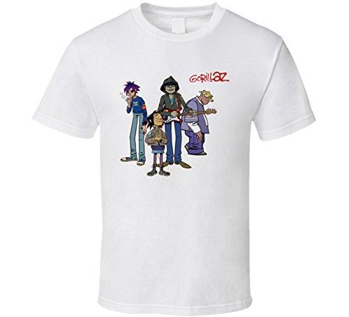 Perfect Fit T Shirts Gorillaz Murdoc 2D Noodle Russel T Shirt L White
