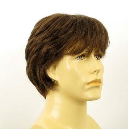 Peluca hombre cabello 100% natural castaña ERIC 8