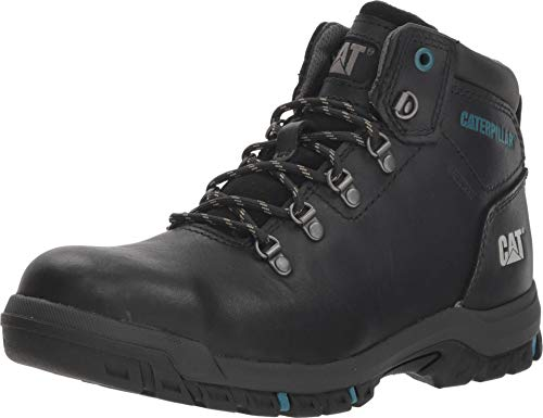 Caterpillar Mae Steel Toe Waterproof Work Boot Women 10 Black ()