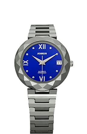 4b5b9a575 Jowissa Soletta Women's Automatic Watch with Blue Dial Analogue Display and  Silver Tungsten Bracelet J1.168.M: Amazon.co.uk: Watches