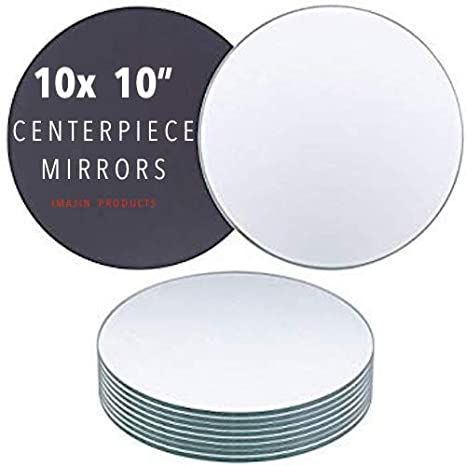 Amazon Com Imajin Products Round Centerpiece Mirror For Wedding