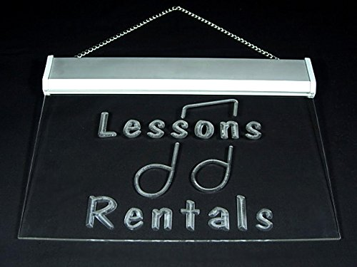 Music Lessons Class Rentals School Display Led Light Sign