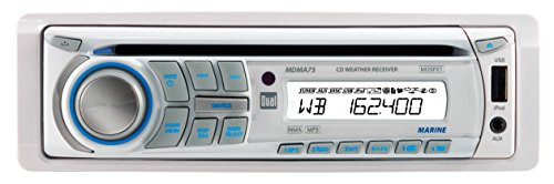Dual Electronics MDMA75 Marine CD Receiver with NOAA 7-Channel Weatherband Tuner and Direct USB Control for iPhone/iPod Devices