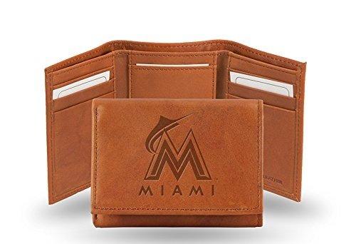 MLB Miami Marlins Embossed Genuine Cowhide Leather ()