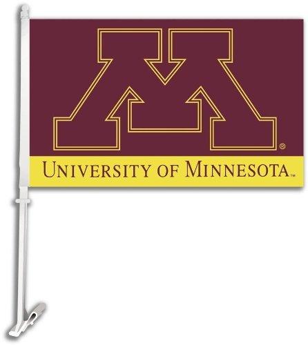 NCAA Minnesota Golden Gophers Car Flag with Free Wall Bracket