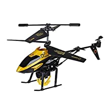 D-Mcark Indoor Outdoor Mini Fast Flying Remote Control RC Helicopter With Carry Winch for Little People Kids Boys Yellow
