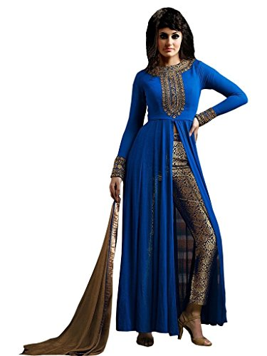 blue anarkali dress - 9