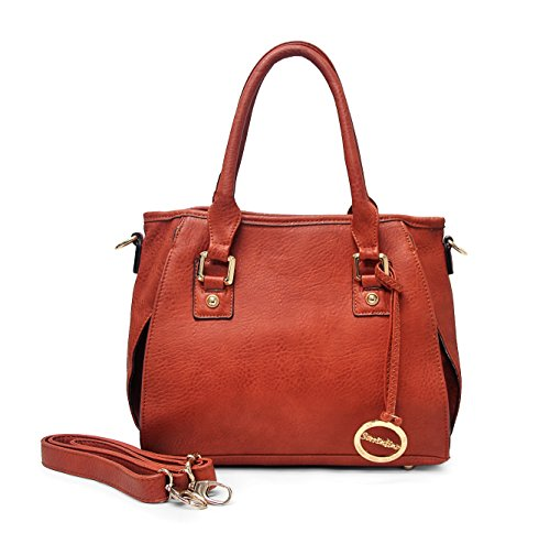 Sorrentino Women's Handbag Petite Tote Satchel (601_Brown)