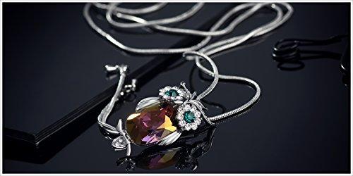 Neoglory fait avec Swarovski Elements longue collier pendentif pour les femmes chouette