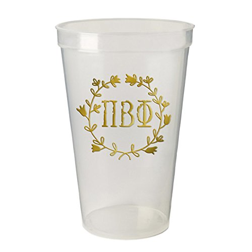 (Pi Beta Phi Greek Wreath Giant Plastic Cup Set of 4)