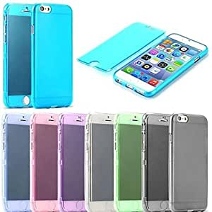 YXF TPU Screen Touch Full Body Cover Case for iPhone 6 (Assorted Colors) , Pink