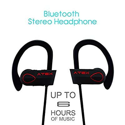 Bluetooth Headphones ATEX-9 Earbuds Wireless Headphones IPX7 Sports Sweatproof Deep Bass CVC6.0 Noise Cancellation built-in microphone Bluetooth Headset in Gift Package Free CASE