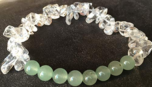 (Green AVENTURINE bracelet Natural cure for psoriasis genuine semi-precious natural stones)