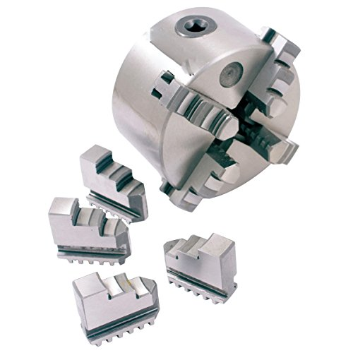 HHIP 3900-0423 4-Jaw Self-Centering Lathe Chuck Plain 3 Mounting Holes, 3