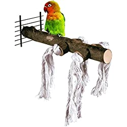 Bird Perch, Adv-one Nature Wood Stand Branch Parrots Macaw Canaries Cockatiels Bird Perch