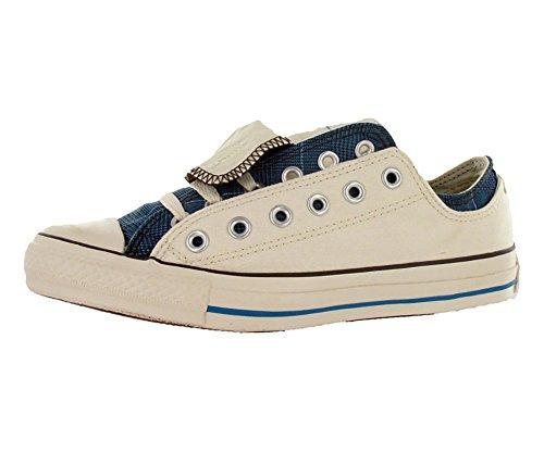 Converse All Star Chuck Taylor Double Upper Ox Men's Shoes Size US 8, Regular (D, M) Width, Color Blue/Beige/Plaid