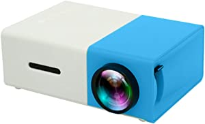 Portable Mini Projector LED Micro Projector Home Party Meeting Theater Projector,Blue and White