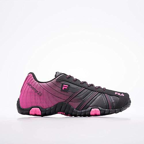 Tênis Slant Summer 2.0, FILA, Feminino, Black/Fluor Pink, 38