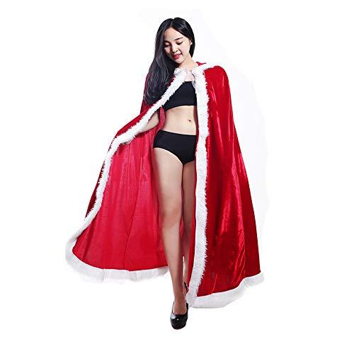 Christmas Cloak Red Hooded Cape Robe Mrs. Santa