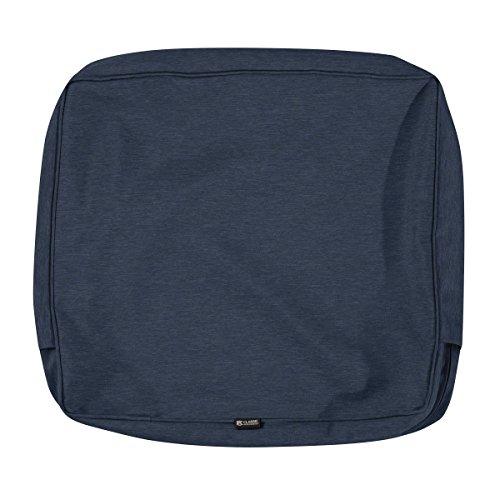 Classic Accessories Montlake Patio Back Cushion Slip Cover, Heather Indigo, 25x20x4 ()