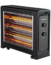 Heller 2400W Quartz Radiant Heater w/ 3 Heat Settings/ Fan Assisted- HRH2400FG