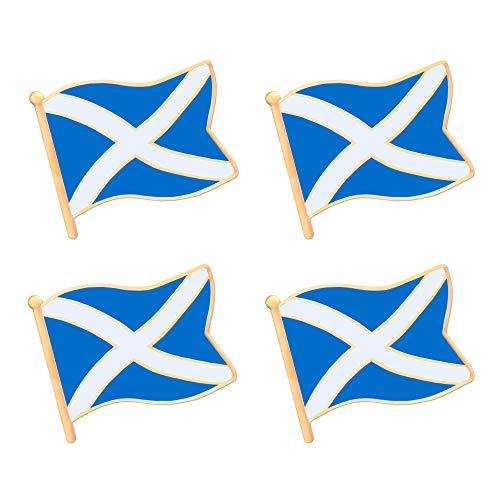 ALEY Scottish Scotland Flag Lapel Pin Decorations (4 Pack)