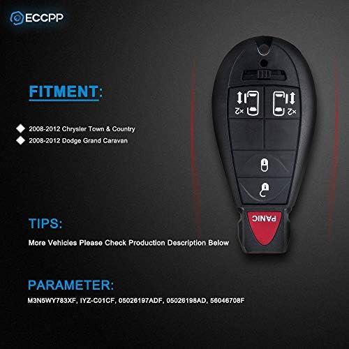 KeylessOption Keyless Entry Remote Car Key Fob Case Shell Pad Replacement for KOBUTA3T