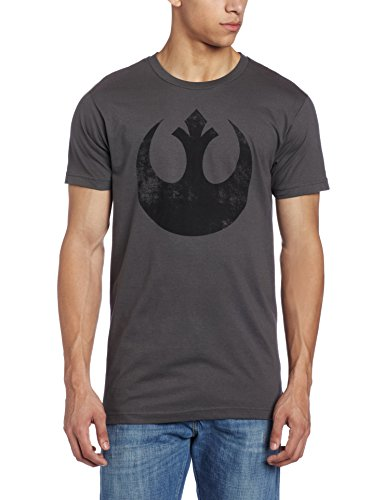 (Star Wars Men's Old Rebel T-Shirt, Charcoal, Medium)