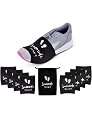 SMOODE STEPZ-Dance Socks/Zumba Accessories/Over sneakers Socks for the Perfect Slide & Twist /4 PAIRS & a Carry Bag