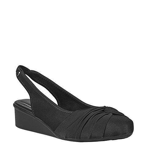 AVENUE Women's Gillian Knot Front Slingback, 13 Black (Front Slingback)
