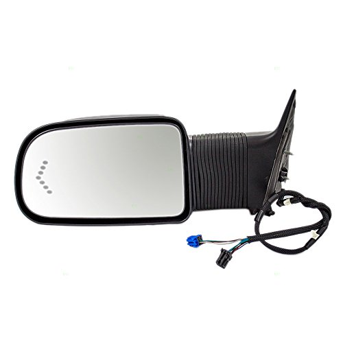 Drivers Power Extending Side View Towing Mirror Heated Signal in Glass Replacement for Chevrolet GMC Pickup Truck 19153377 ()